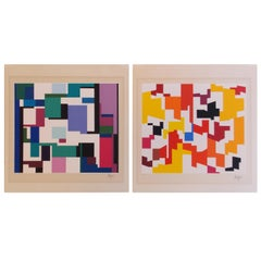 Yaacov Agam Geometric Screen Prints