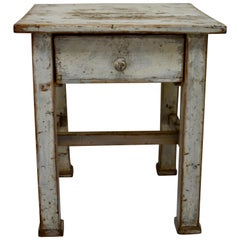 Painted Pine Kitchen Stool or End Table