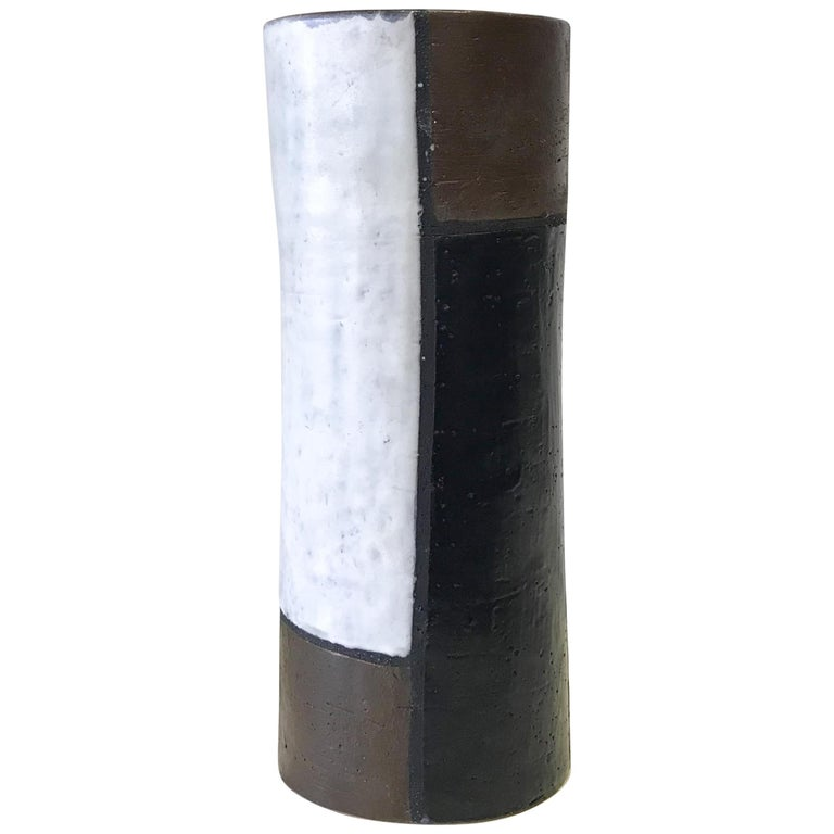 Mondrian Vase By Aldo Londi For Bitossi At 1stdibs