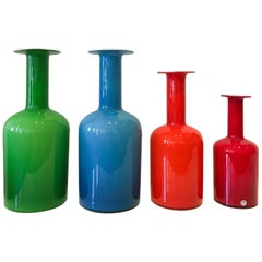 Gulvvase Vases by Otto Brauer for Kastrup-Holmegaard, Set of Four