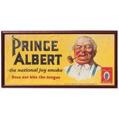 1950s-1960s Prince Albert Tobacco Advertising Banner Framed