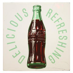 1954 Original Coca-Cola Tin Advertising Sign