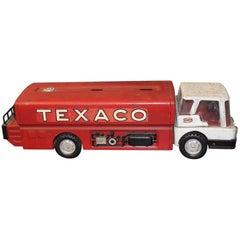 1960s Texaco Oil Gas Metal Toy Tanker Truck