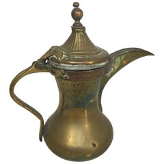 Middle Eastern Dallah Arabic Copper and Brass Coffee Pot