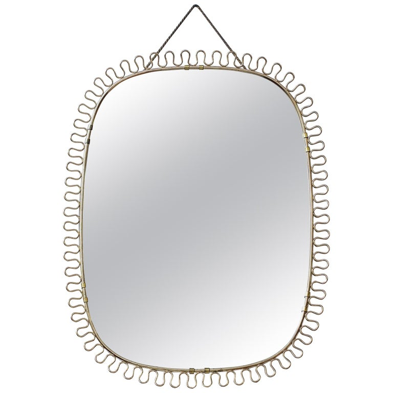Wall mirror by Josef Frank for Firma Svenskt Tenn, Sweden, 1950s