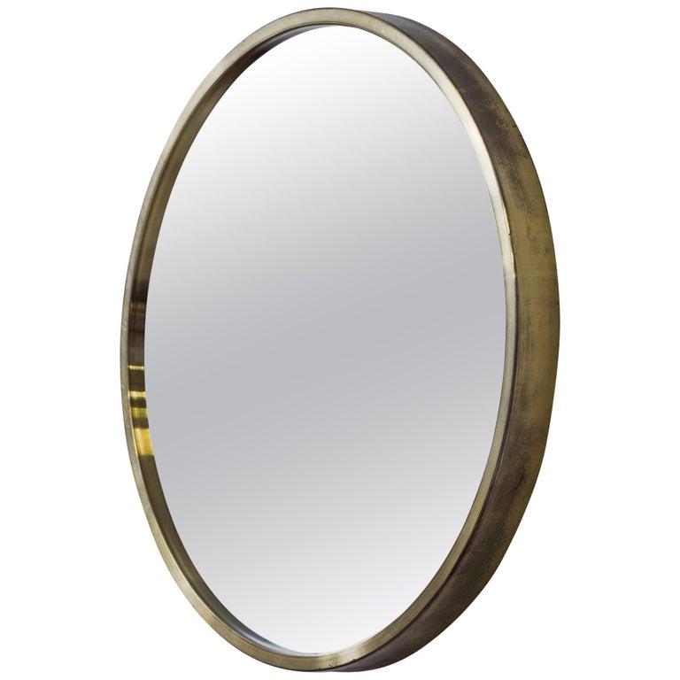 Round Wall Mirror by Troed Nilsson for Glasmäster, Sweden, 1960s
