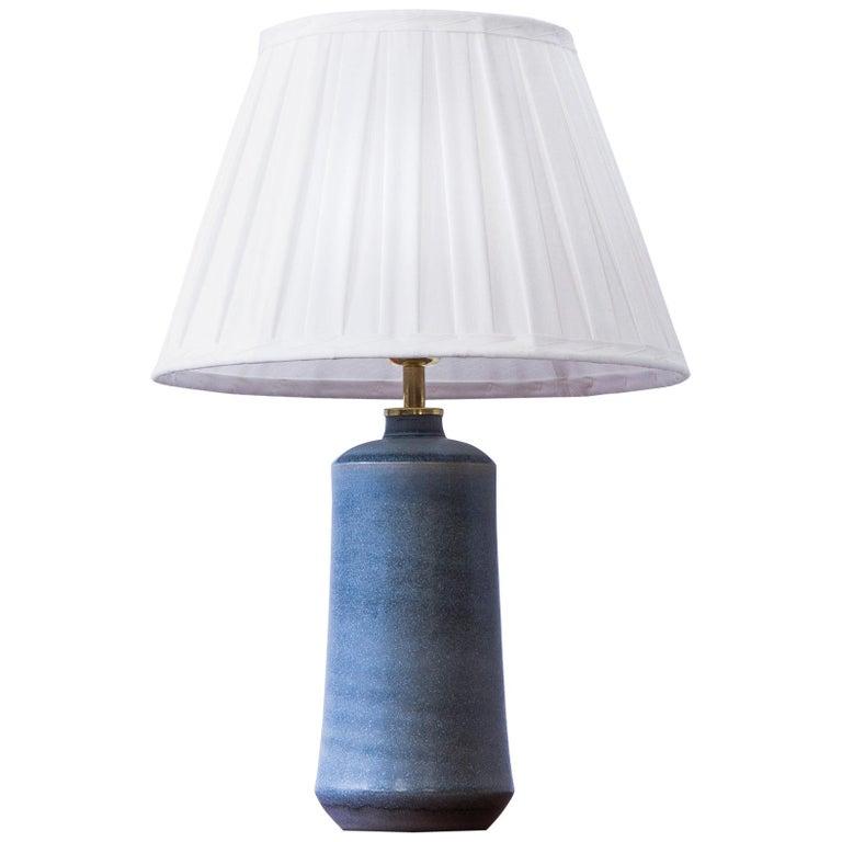Stoneware Table Lamp by Erich & Ingrid Triller, Tobo, Sweden, 1950s