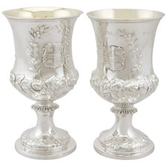 Antique Victorian Sterling Silver Goblets