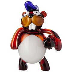 Pop Comic Artistic Murano Glass Sculpture