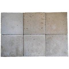 Soft Grey-Nuanced, Old Cement-Floor Tiles