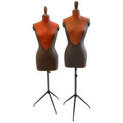 Two Mid-Century Modern Italian Tailor's Mannequins, circa 1950