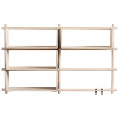 Foldin Shelf Six Holes Four Shelves with Two Hooks