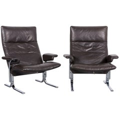 De Sede DS 2030 Leather Armchair Set Brown One-Seat