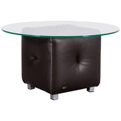Bretz Don Corleone Leather Foot-Stool Brown Coffee-Table