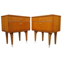 Pair of 1950s Teak Wooden Bedside Tables