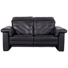 rolf benz furniture. Rolf Benz 4000 Leather Sofa Black Two-Seat Couch Furniture