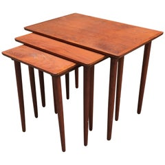 Bramin Danish Modern Teak Nesting Tables