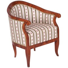 Completely Restored Biedermeier Walnut Armchair from Austria, Wien, 1820-1829