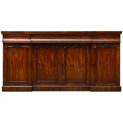 Early Victorian Mahogany Four Door Sideboard