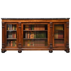Exhibition Quality George IV Rosewood Bookcase Stamped James Winter