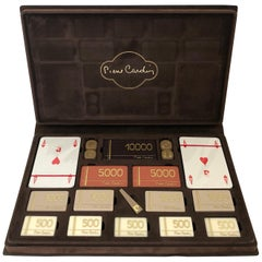 Pierre Cardin Playing Game Card Set Velvet Case