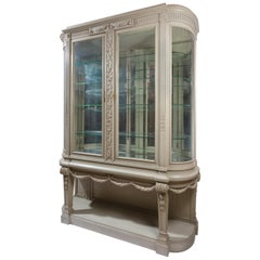 19th Century Louis XVI Style Gris Trianon Painted Vitrine by François Linke