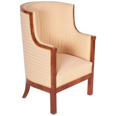 Completely Restored Biedermeier Walnut Armchair from Germany, 1820-1829