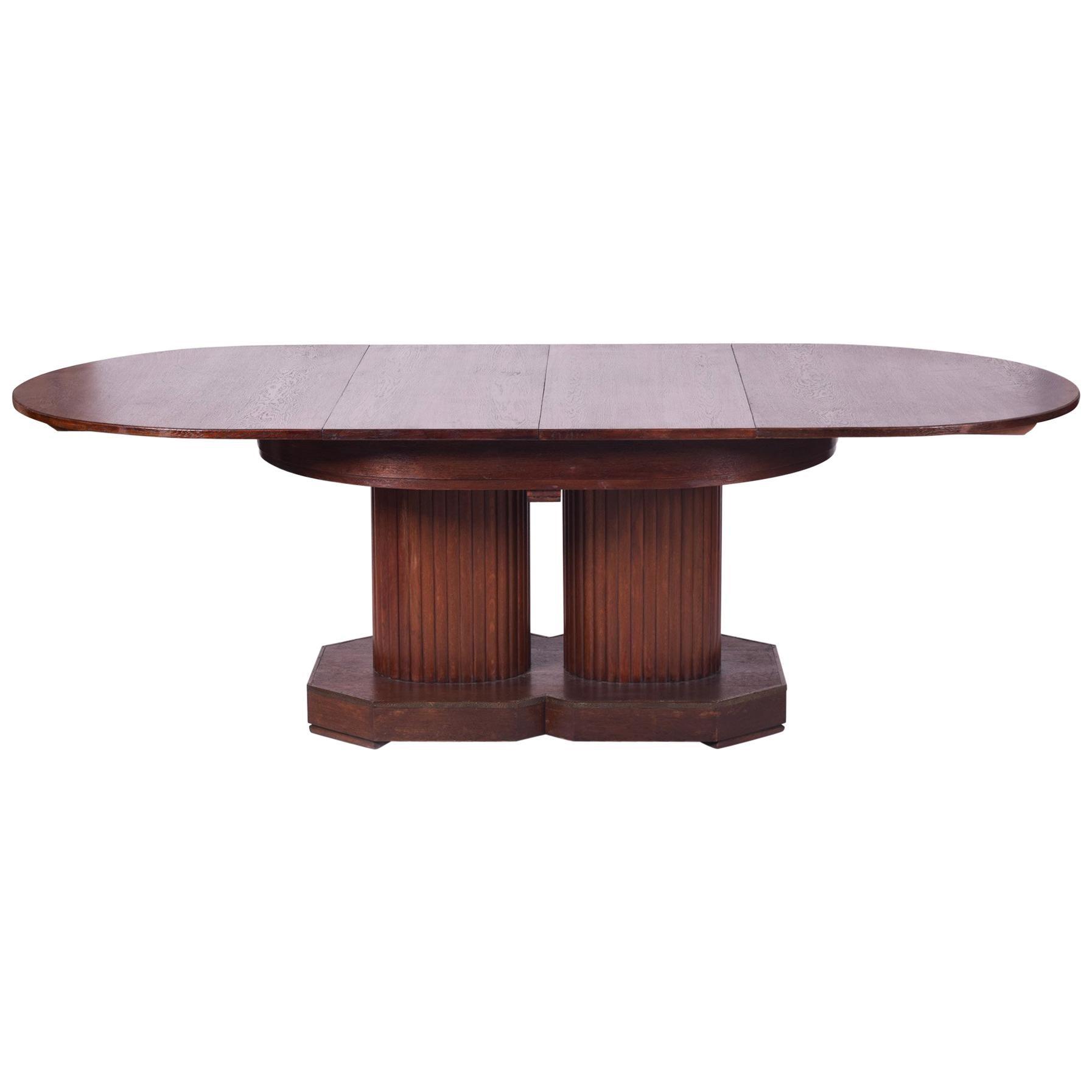 Unique Secession Large Extendable Dining Table, Vienna Secession, Otto  Prutscher For Sale