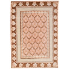 Antique Axminster Rug with Arts & Crafts Pattern in Pastel Colors, circa 1910