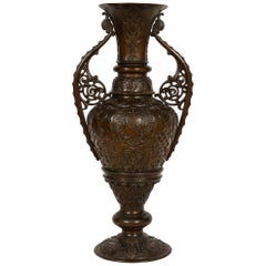 Large Patinated Bronze Alhambra Islamic Vase Made for the Islamic Market