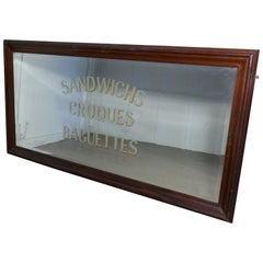 Large Wall Covering Restaurant Advertising Mirror