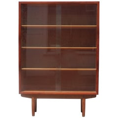 Modern Danish Three Shelf Teak Bookcase by Borge Mogensen