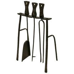 Brutalist Fireplace Tool Set