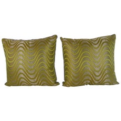 Pair of Chinese Couture Silk Pillows