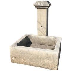 Modern Limestone Wall Fountain