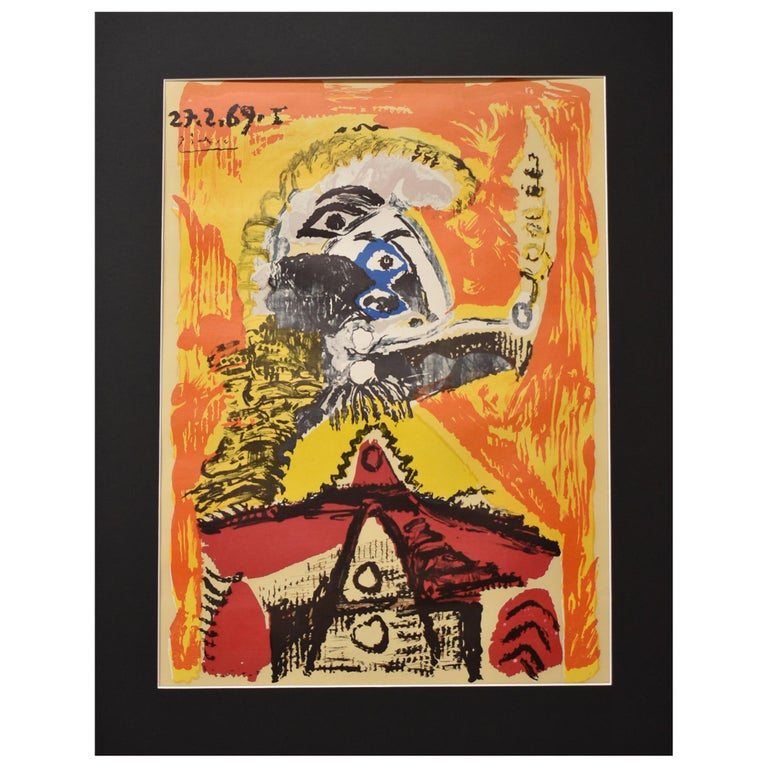 """Pablo Picasso Lithograph Print """"Imaginary Portraits"""" from the Shakespeare Series"""