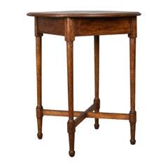 Antique Side Table, English, Edwardian, Oak, Lamp, circa 1910