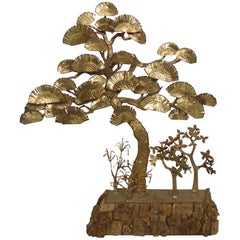 Decorative Bonsai Style Brass Tree