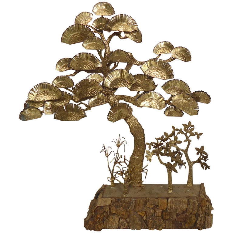 Decorative Bonsai Style Brass Tree