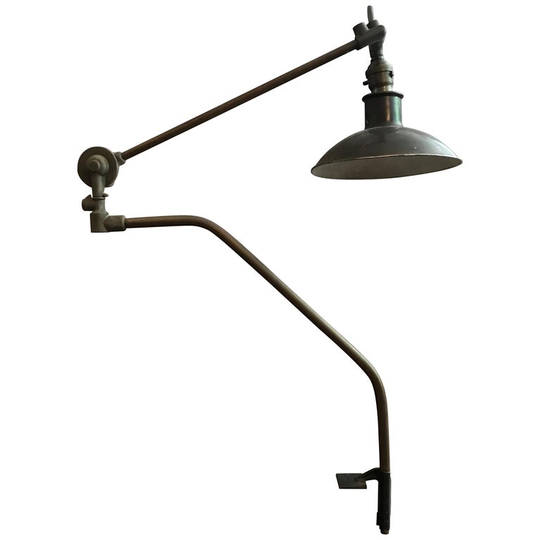 Industrial Adjustable Metal Task Lamp by Malleable