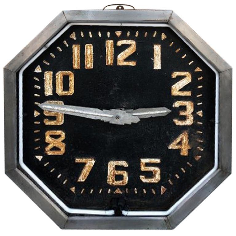 Art Deco Neon Clock