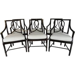 Set of Six McGuire Leona Armchairs