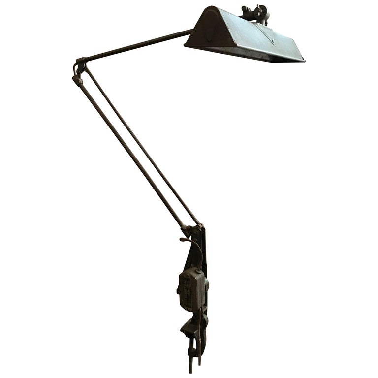 Industrial Spring-Arm Architects Drafting Task Lamp by Dazor