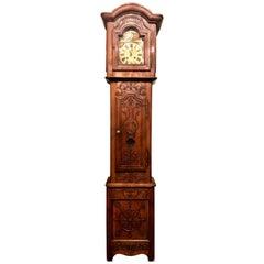 Antique French Provincial Grandfather Clock, circa 1860