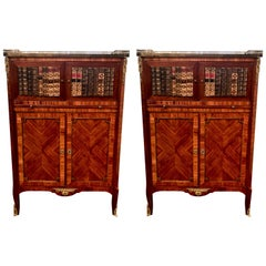 Pair of Antique Mahogany Library Book Cases, circa 1870-1890