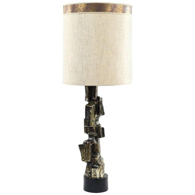 1970s Maurizio Tempestini for Laurel Brutalist Table Lamp