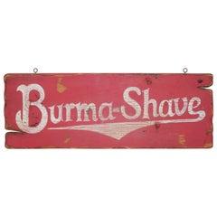 Burma Shave Trade Sign