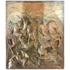 Copper Plaque Done by F. Lavastre 'French Artist, 19th Century'