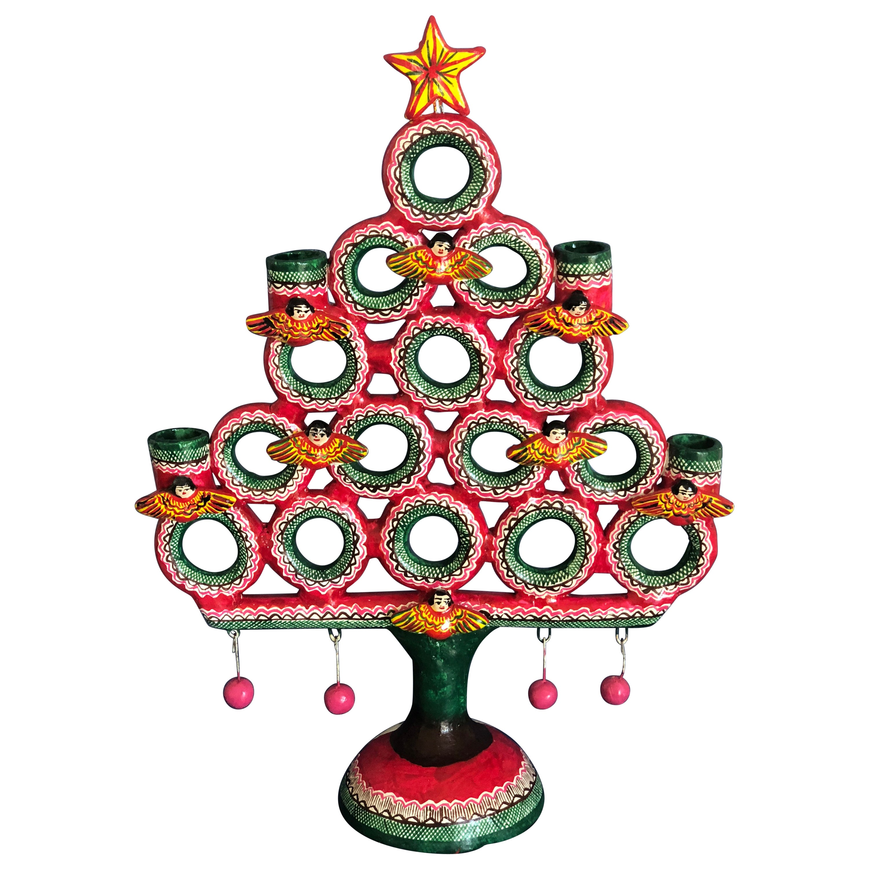 Christmas Tree Arbol De La Vida Folk Art Mexico Tree Of Life Clay