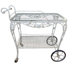 Vintage Bar or Tea Cart Woodard Chantilly Rose Pattern